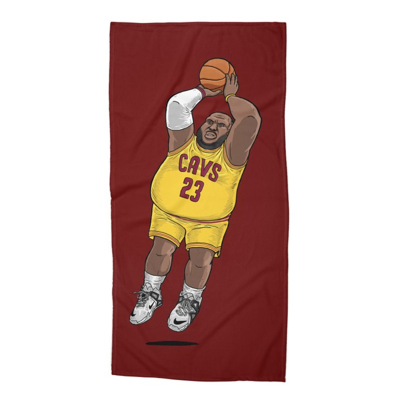 Fat LeBron - a.k.a. LeBrownie Accessories Beach Towel by dukenny's Artist Shop