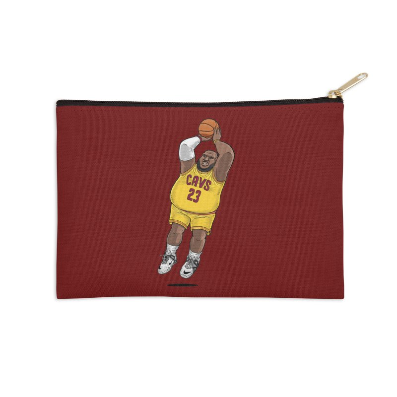 Fat LeBron - a.k.a. LeBrownie Accessories Zip Pouch by dukenny's Artist Shop