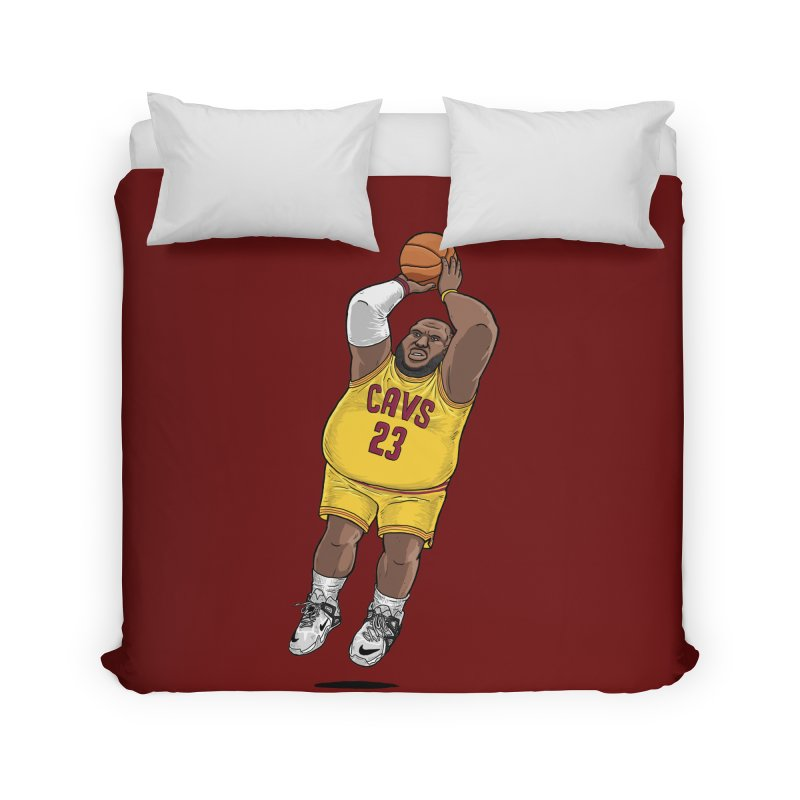Fat LeBron - a.k.a. LeBrownie Home Duvet by dukenny's Artist Shop