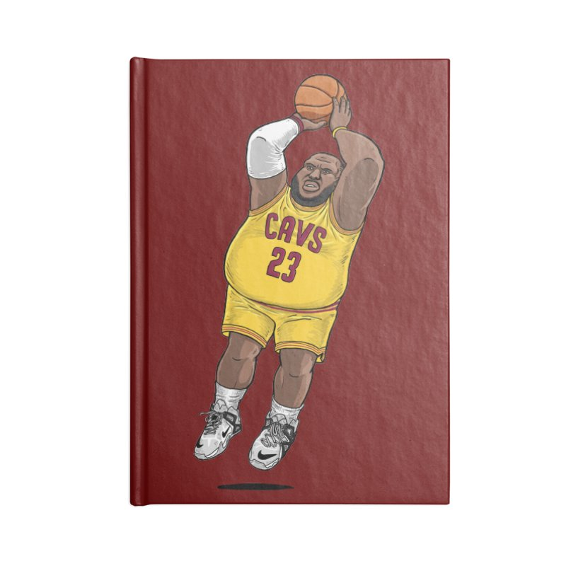 Fat LeBron - a.k.a. LeBrownie Accessories Blank Journal Notebook by dukenny's Artist Shop