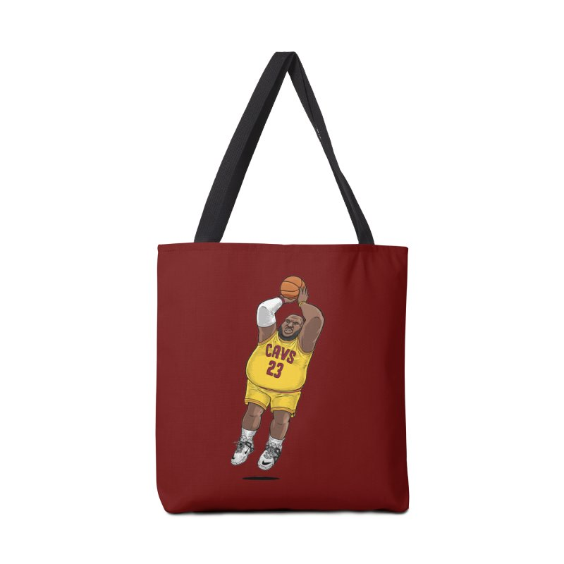 Fat LeBron - a.k.a. LeBrownie Accessories Bag by dukenny's Artist Shop