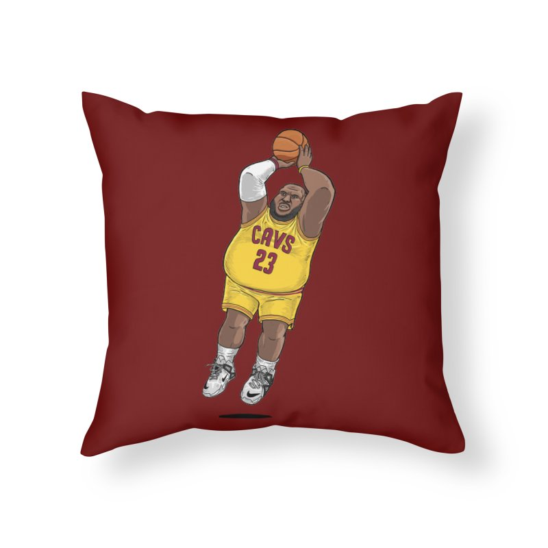Fat LeBron - a.k.a. LeBrownie Home Throw Pillow by dukenny's Artist Shop