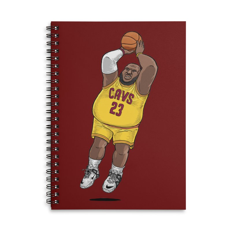 Fat LeBron - a.k.a. LeBrownie Accessories Lined Spiral Notebook by dukenny's Artist Shop