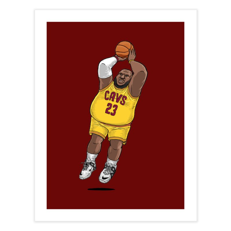 Fat LeBron - a.k.a. LeBrownie Home Fine Art Print by dukenny's Artist Shop