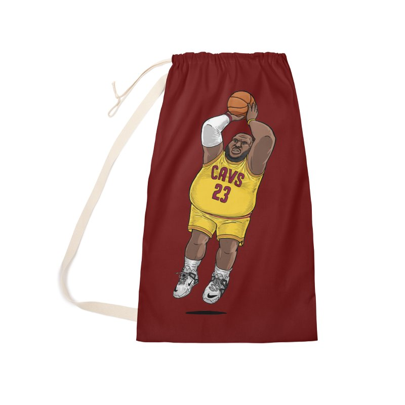 Fat LeBron - a.k.a. LeBrownie Accessories Laundry Bag Bag by dukenny's Artist Shop