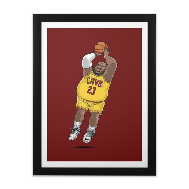 Fat LeBron - a.k.a. LeBrownie Home Framed Fine Art Print by dukenny's Artist Shop