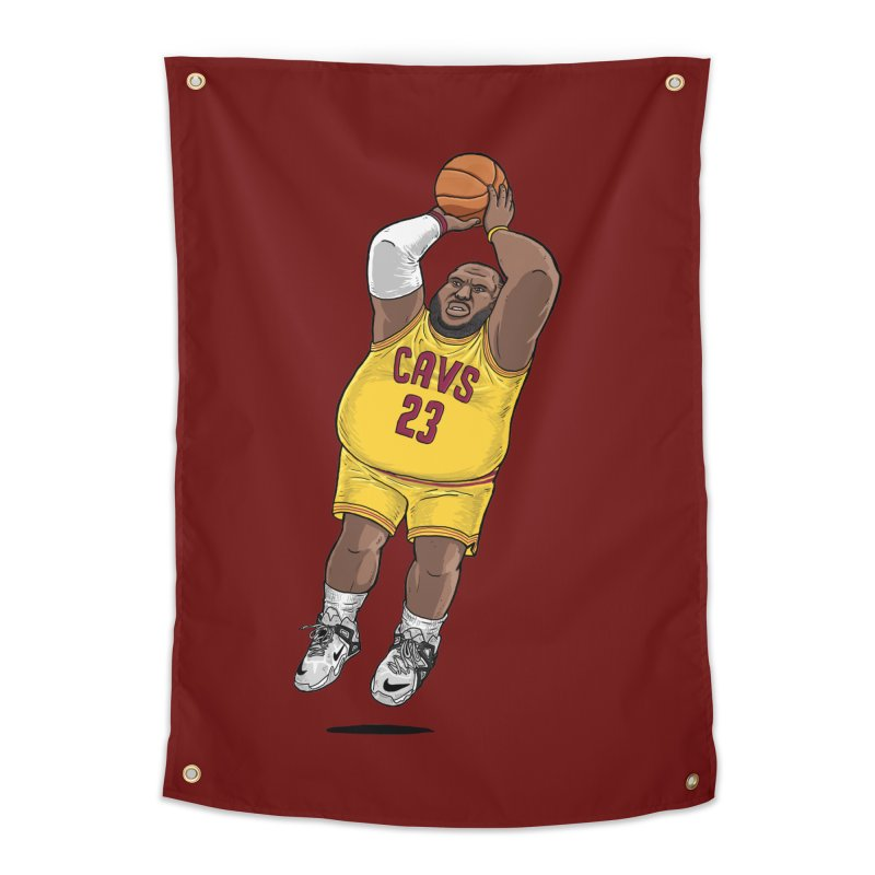 Fat LeBron - a.k.a. LeBrownie Home Tapestry by dukenny's Artist Shop