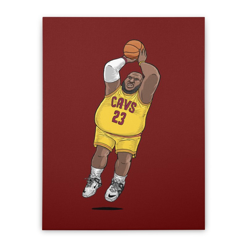Fat LeBron - a.k.a. LeBrownie Home Stretched Canvas by dukenny's Artist Shop