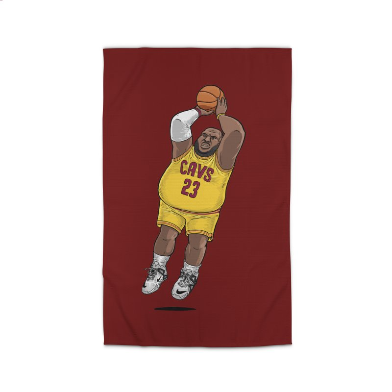 Fat LeBron - a.k.a. LeBrownie Home Rug by dukenny's Artist Shop
