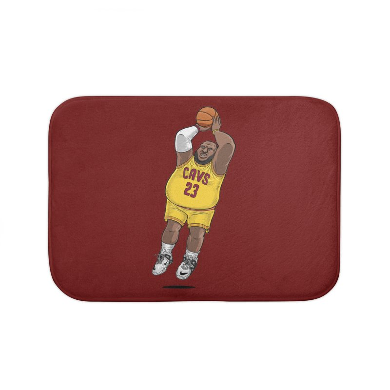 Fat LeBron - a.k.a. LeBrownie Home Bath Mat by dukenny's Artist Shop