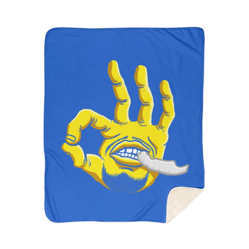 Curry Hand Home Sherpa Blanket Blanket by dukenny's Artist Shop