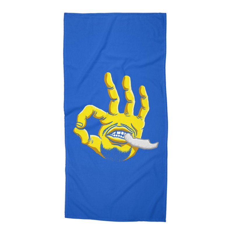 Curry Hand Accessories Beach Towel by dukenny's Artist Shop