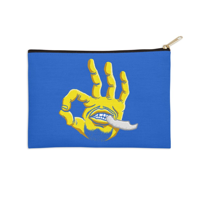 Curry Hand Accessories Zip Pouch by dukenny's Artist Shop