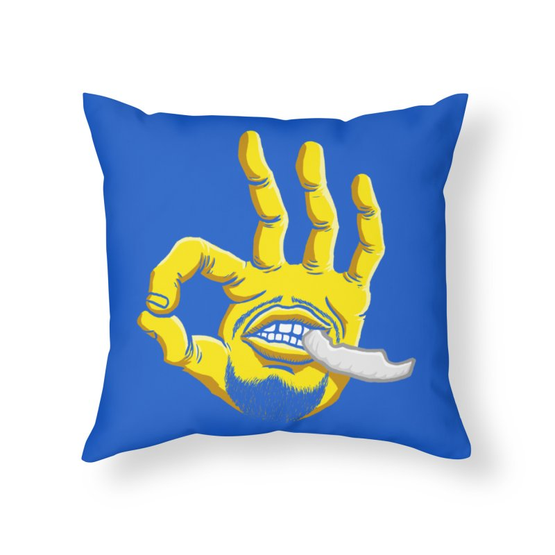 Curry Hand Home Throw Pillow by dukenny's Artist Shop