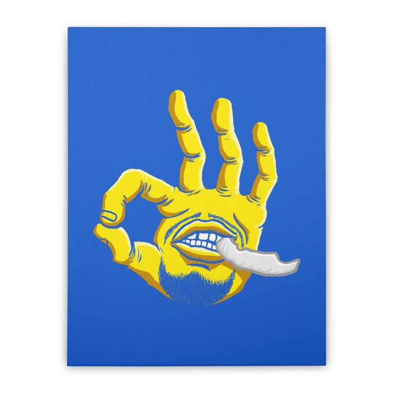 Curry Hand Home Stretched Canvas by dukenny's Artist Shop