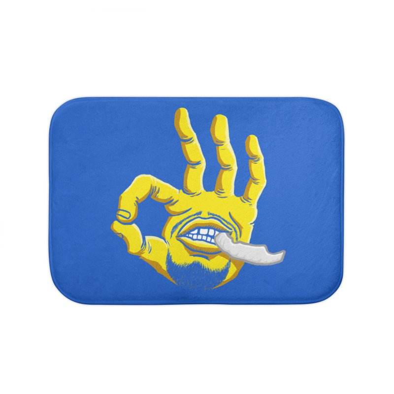 Curry Hand Home Bath Mat by dukenny's Artist Shop