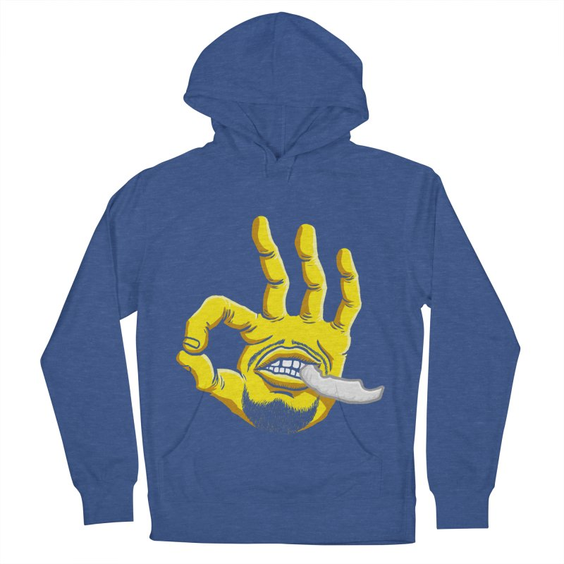 Curry Hand Men's French Terry Pullover Hoody by dukenny's Artist Shop