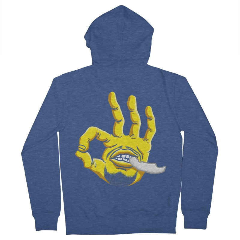 Curry Hand Women's French Terry Zip-Up Hoody by dukenny's Artist Shop
