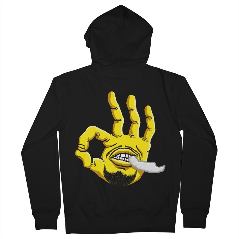 Curry Hand Men's French Terry Zip-Up Hoody by dukenny's Artist Shop