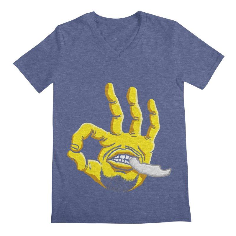 Curry Hand Men's Regular V-Neck by dukenny's Artist Shop