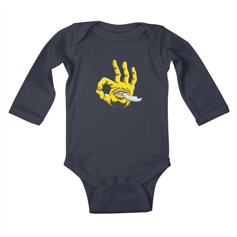 Curry Hand Kids Baby Longsleeve Bodysuit by dukenny's Artist Shop