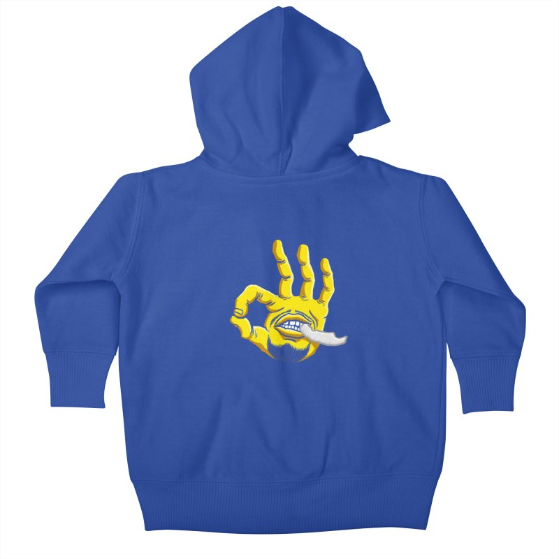 Curry Hand Kids Baby Zip-Up Hoody by dukenny's Artist Shop