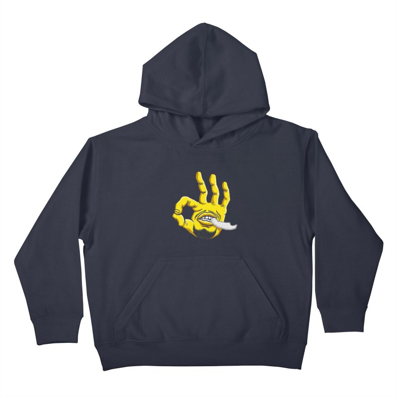 Curry Hand Kids Pullover Hoody by dukenny's Artist Shop