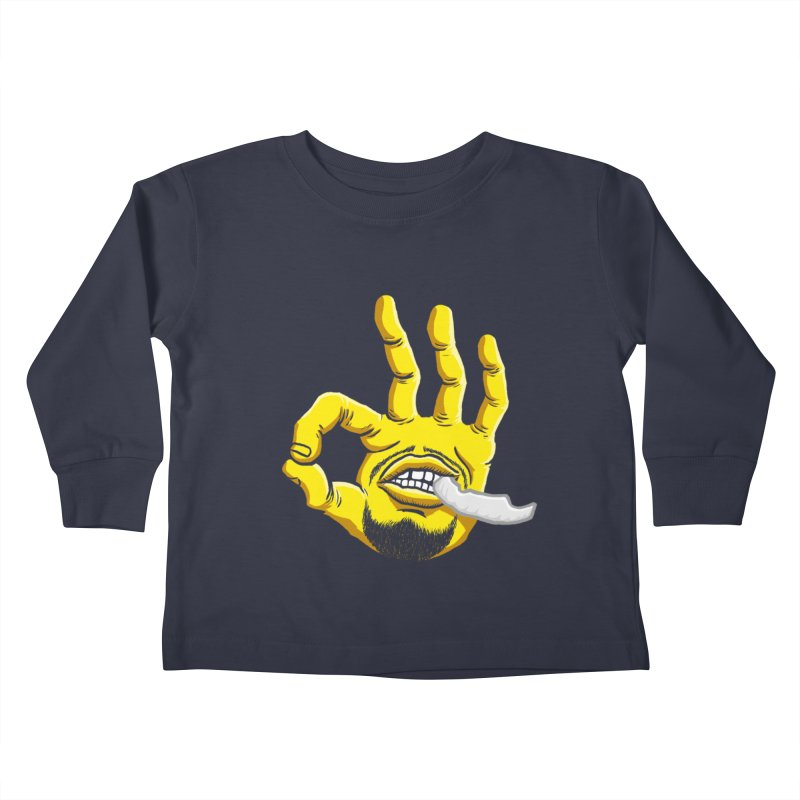 Curry Hand Kids Toddler Longsleeve T-Shirt by dukenny's Artist Shop