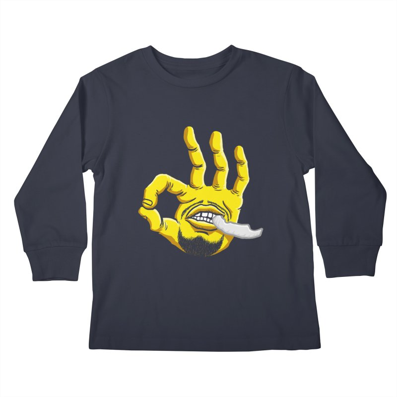Curry Hand Kids Longsleeve T-Shirt by dukenny's Artist Shop