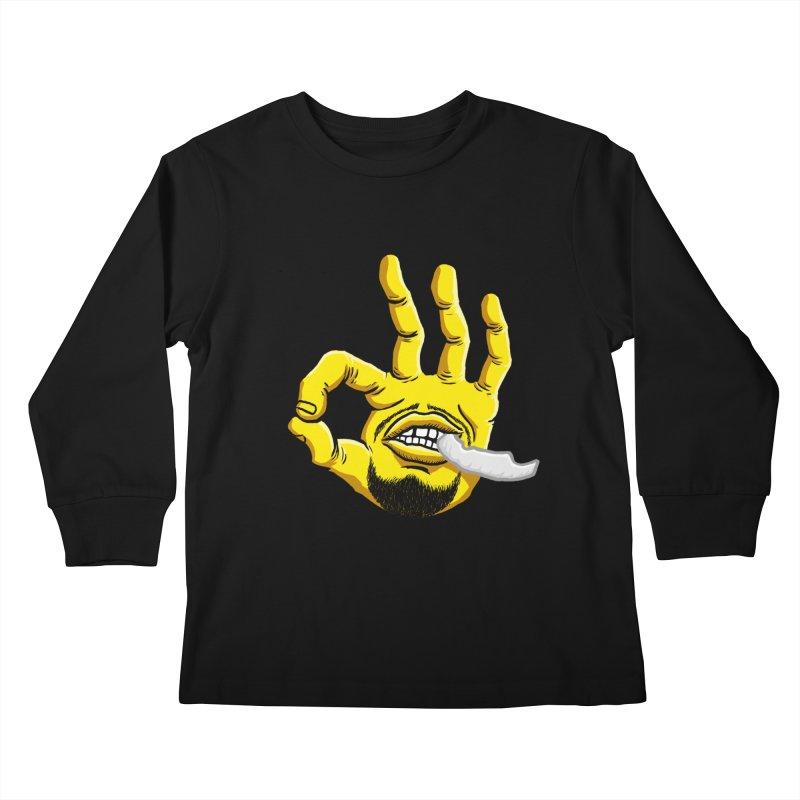 Curry Hand Kids Longsleeve T-Shirt by dukenny's Artist Shop