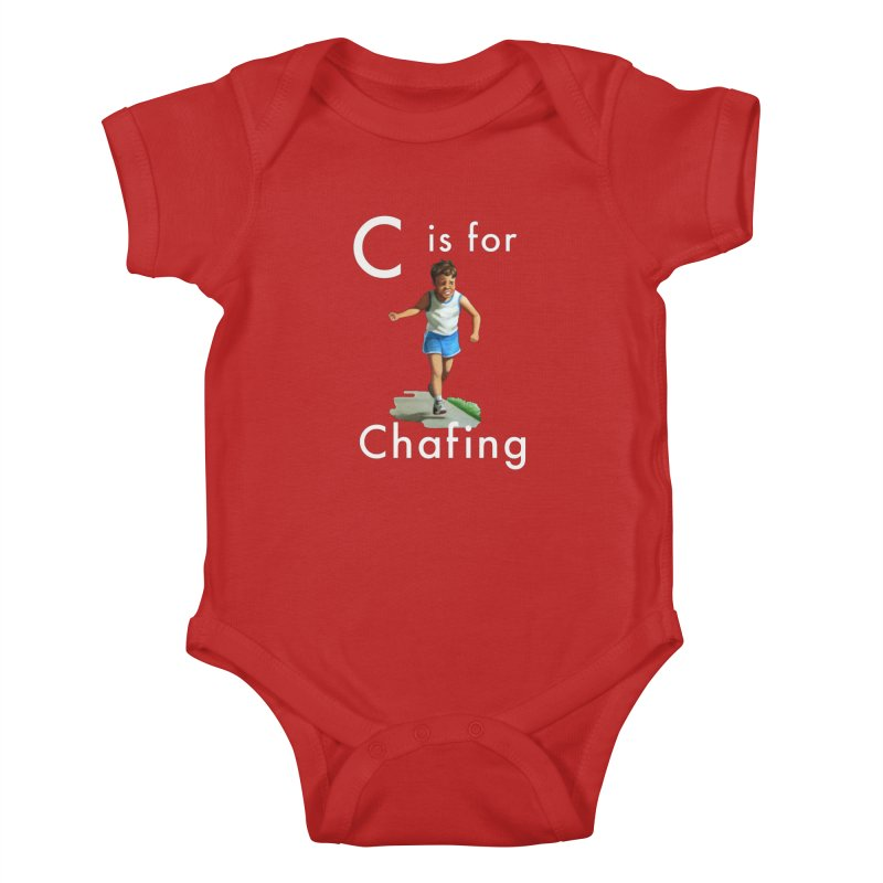 C is for Chafing (white text) Kids Baby Bodysuit by Dumb Runner's Artist Shop