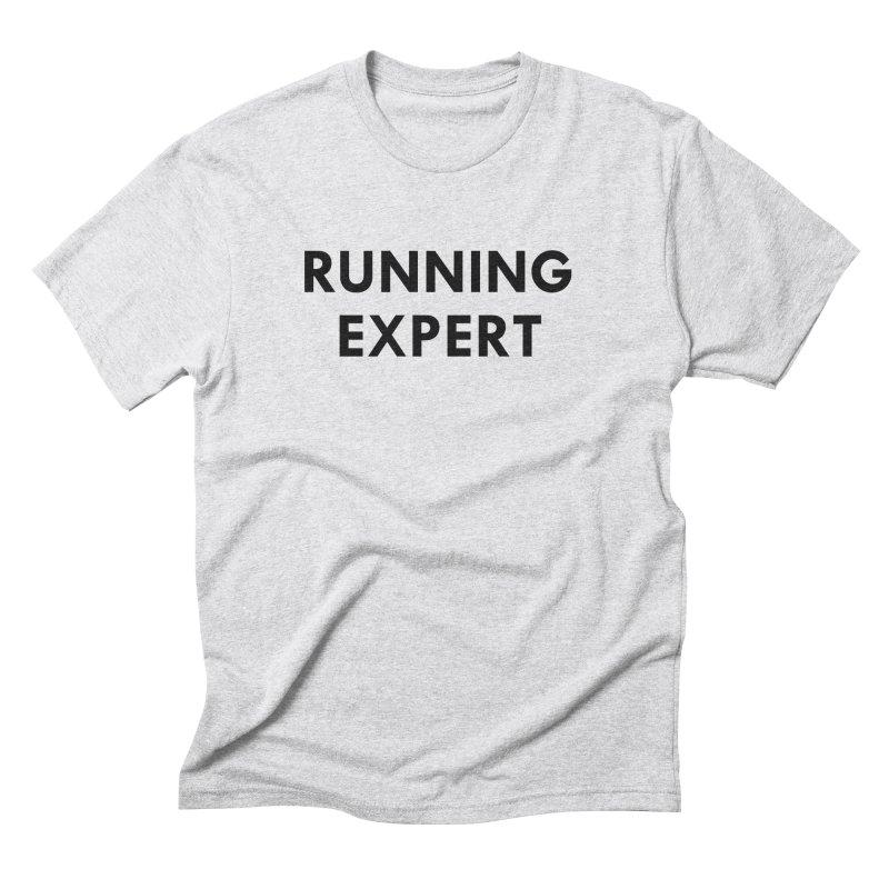 RUNNING EXPERT (black text) Men's Triblend T-Shirt by Dumb Runner's Artist Shop