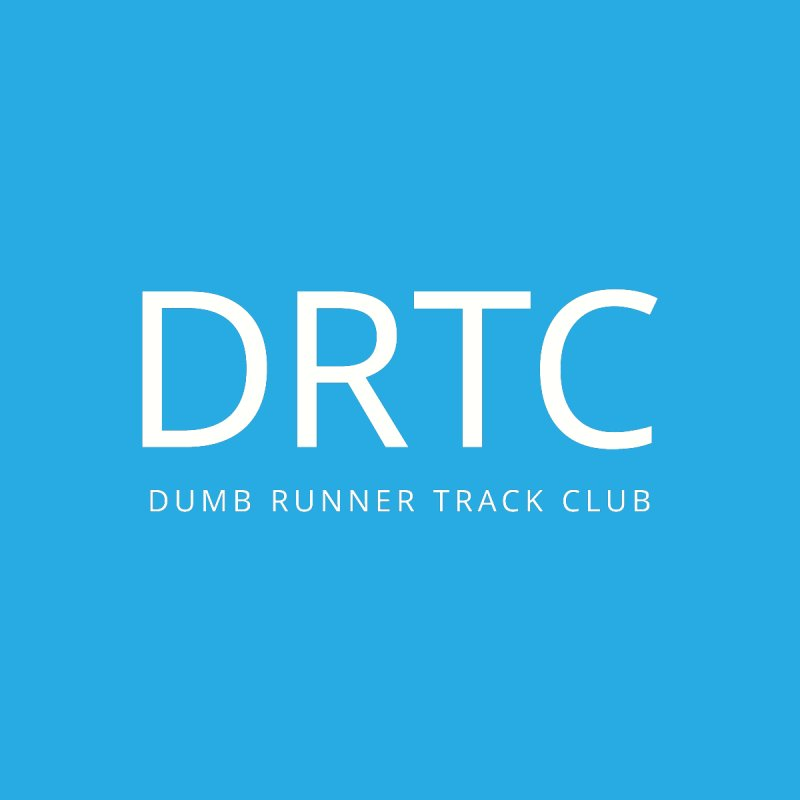 "Dumb Runner Track Club ""DRTC"" (white text) Men's Pullover Hoody by Dumb Runner's Artist Shop"