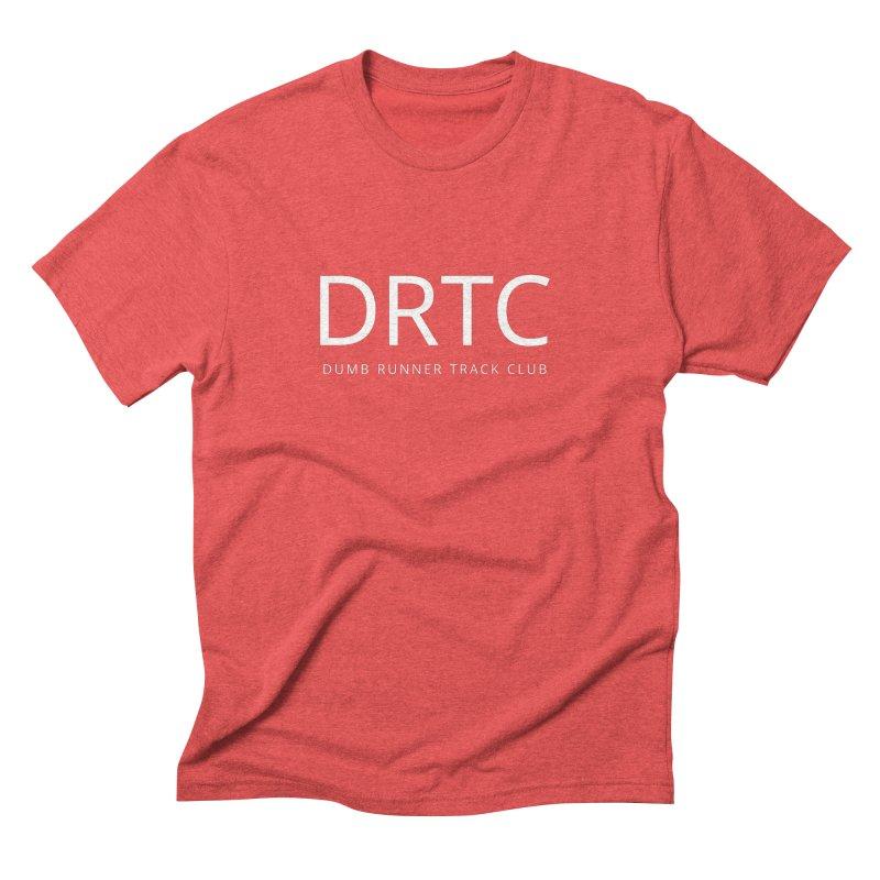 """Dumb Runner Track Club """"DRTC"""" (white text) Men's T-Shirt by Dumb Runner's Artist Shop"""
