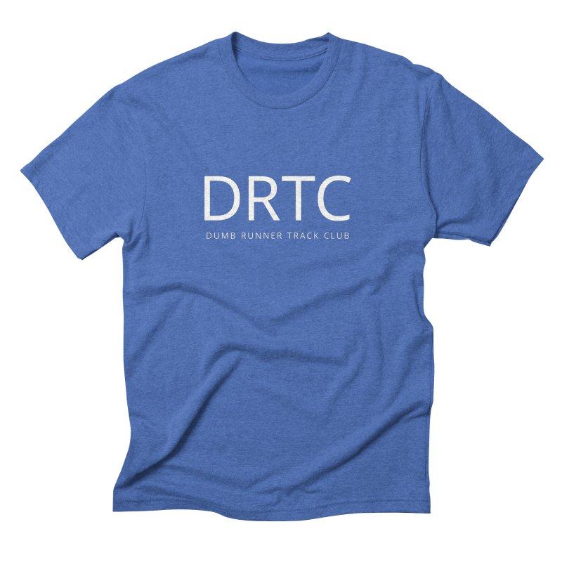 "Dumb Runner Track Club ""DRTC"" (white text) Men's Triblend T-Shirt by Dumb Runner's Artist Shop"