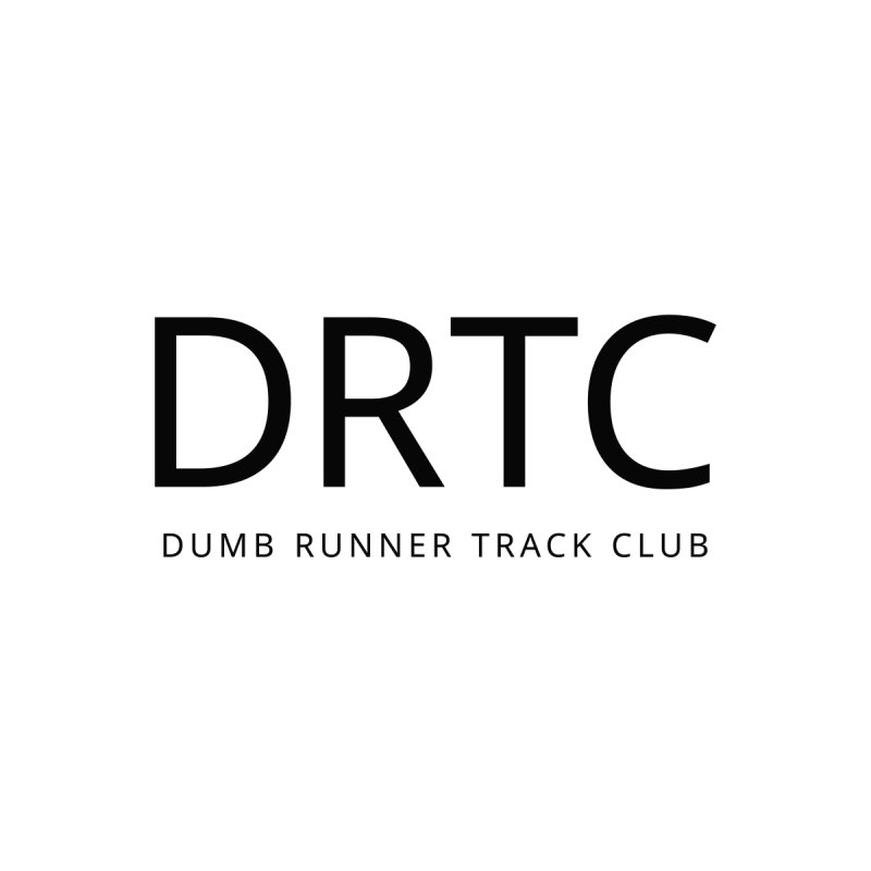 "Dumb Runner Track Club ""DRTC"" (black text) by Dumb Runner's Artist Shop"