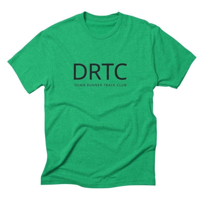 "Dumb Runner Track Club ""DRTC"" (black text) Men's Triblend T-Shirt by Dumb Runner's Artist Shop"