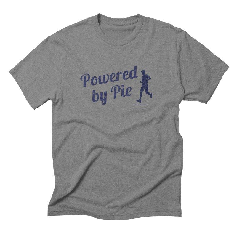 Powered by Pie BLUE Men's Triblend T-Shirt by Dumb Runner's Artist Shop