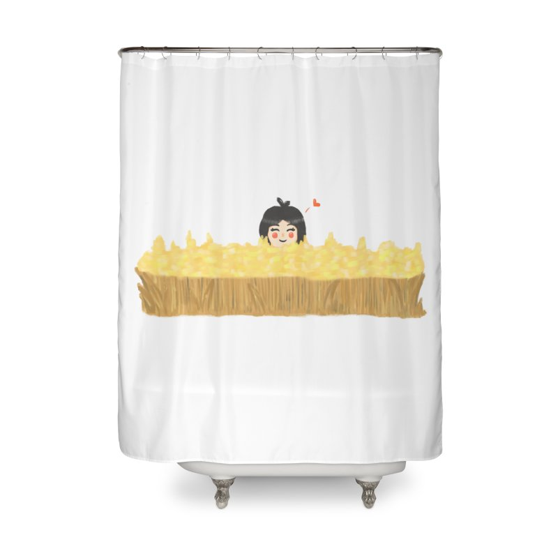 Sweet little girl Home Shower Curtain by DuMBSTRaCK CLoTH iNK PROJECT