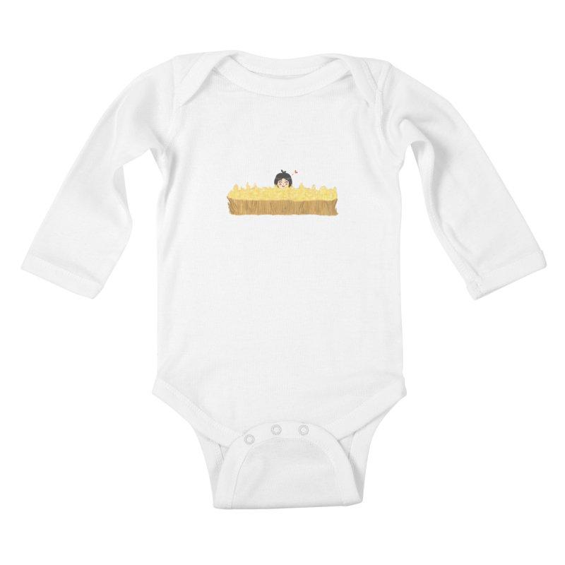 Sweet little girl Kids Baby Longsleeve Bodysuit by DuMBSTRaCK CLoTH iNK PROJECT
