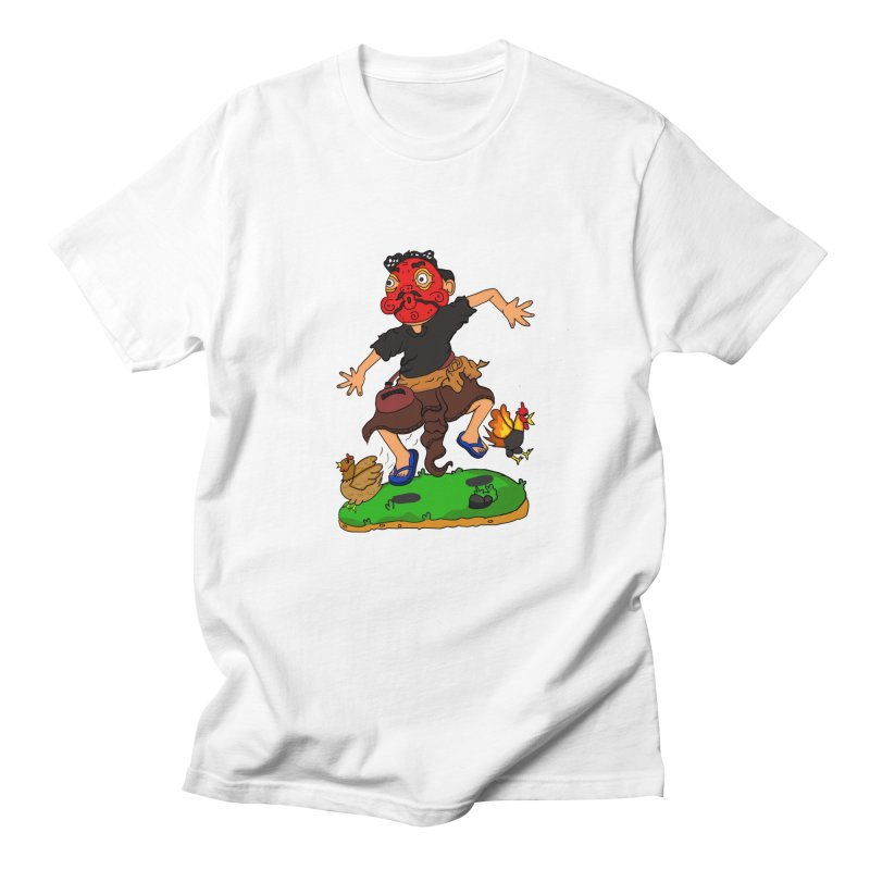 Chasing Chicken Men's T-Shirt by DuMBSTRaCK CLoTH iNK PROJECT