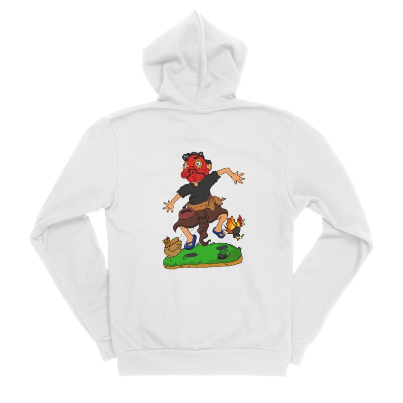 Chasing Chicken Men's Zip-Up Hoody by DuMBSTRaCK CLoTH iNK PROJECT