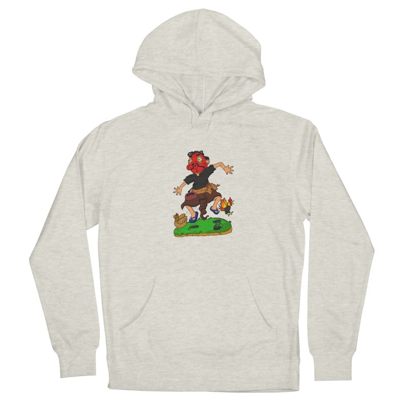 Chasing Chicken Women's Pullover Hoody by DuMBSTRaCK CLoTH iNK PROJECT