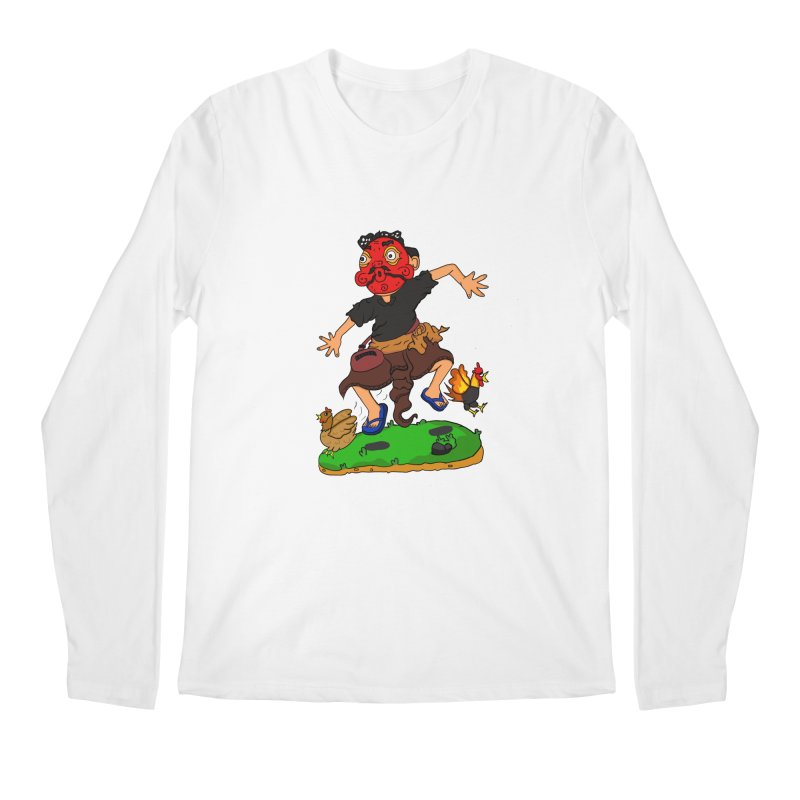 Chasing Chicken Men's Longsleeve T-Shirt by DuMBSTRaCK CLoTH iNK PROJECT