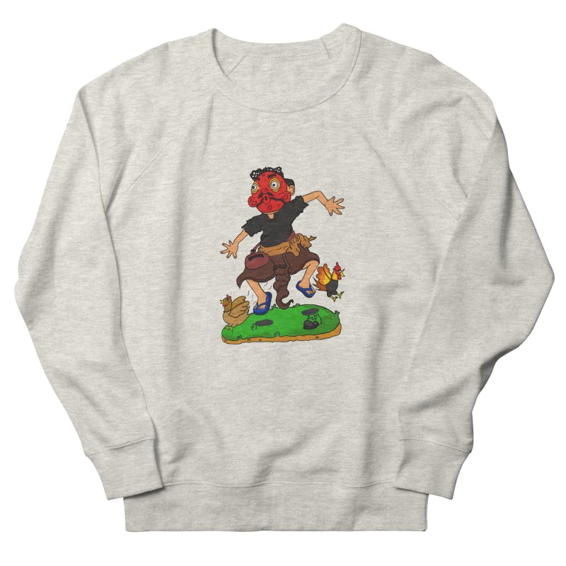 Chasing Chicken Men's Sweatshirt by DuMBSTRaCK CLoTH iNK PROJECT