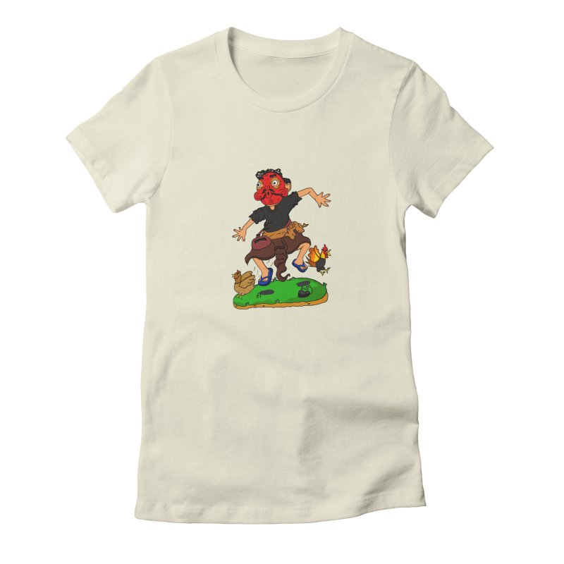 Chasing Chicken Women's T-Shirt by DuMBSTRaCK CLoTH iNK PROJECT