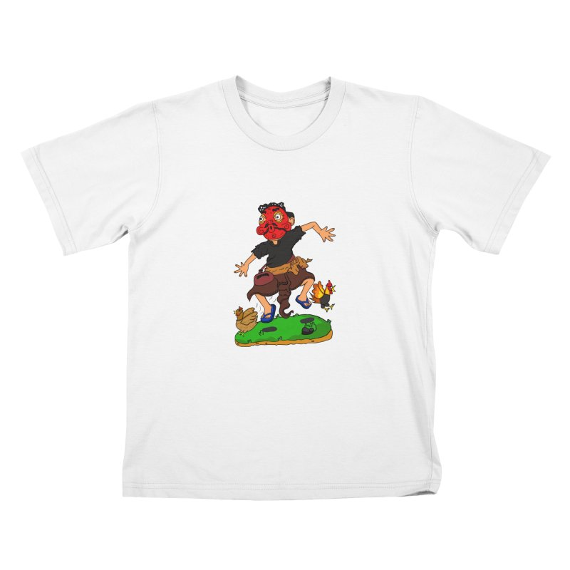 Chasing Chicken Kids T-Shirt by DuMBSTRaCK CLoTH iNK PROJECT