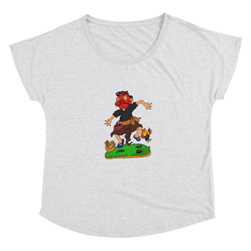 Chasing Chicken Women's Scoop Neck by DuMBSTRaCK CLoTH iNK PROJECT