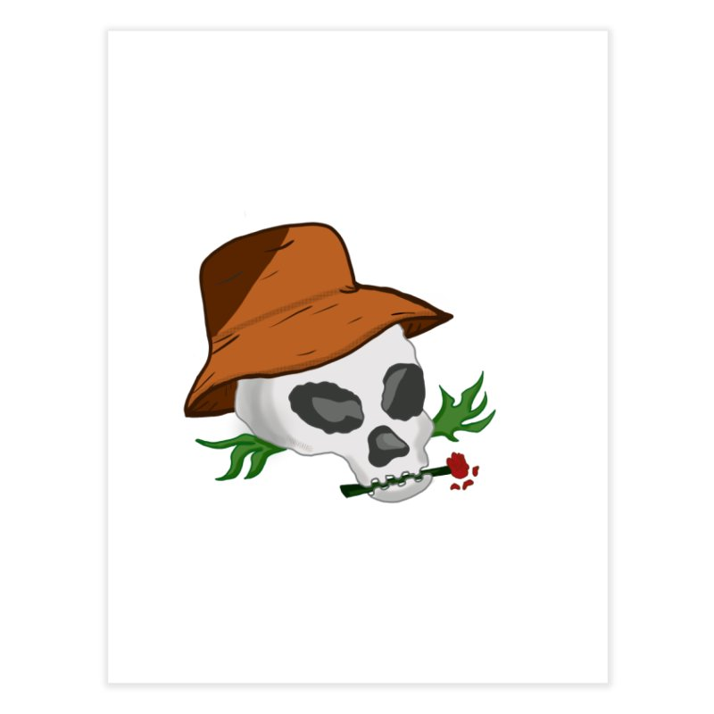 Rose Bone Home Fine Art Print by DuMBSTRaCK CLoTH iNK PROJECT