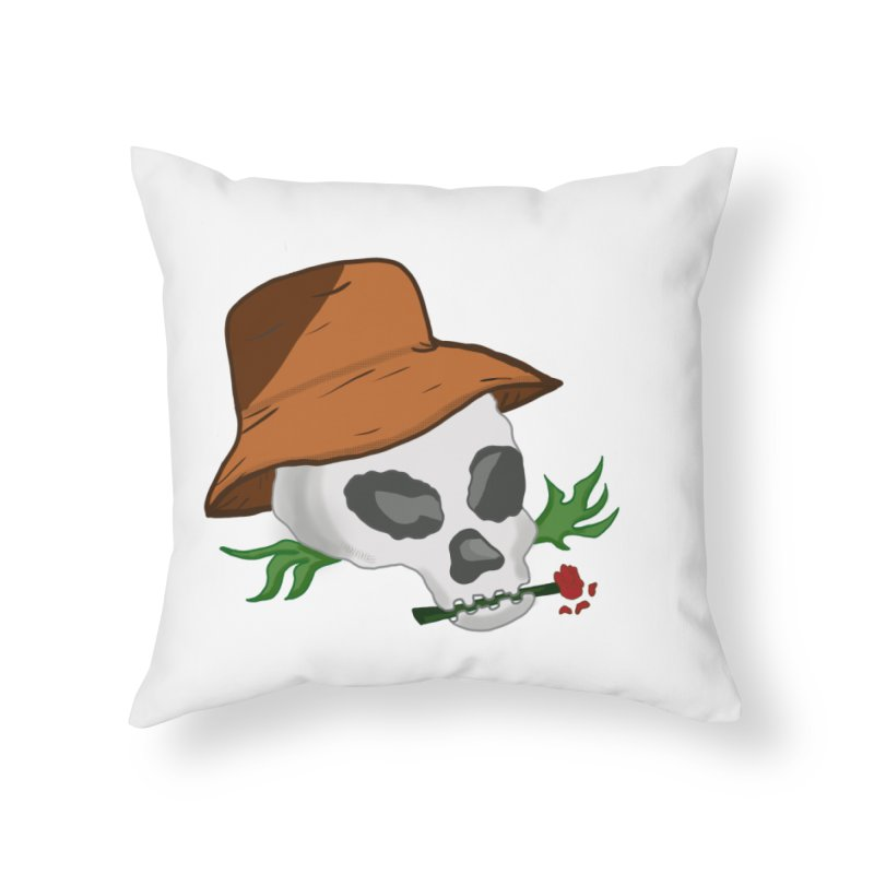 Rose Bone Home Throw Pillow by DuMBSTRaCK CLoTH iNK PROJECT